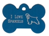 I Love Spaniels Bone Pet Tag