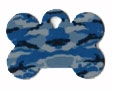 Camo Bone Pet Tag - Aluminum Large