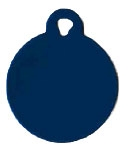 Circle Pet Tag - Aluminum Large