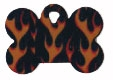 Flame Bone Pet Tag - Aluminum Large