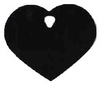 Heart Pet Tag - Aluminum Large