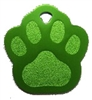 Paw Print Pet Tag - Aluminum Large