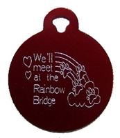 Rainbow Bridge Circle Pet Tag - Aluminum Large
