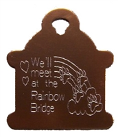 Rainbow Bridge Hydrant Pet Tag - Aluminum Large