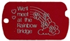 Rainbow Bridge Military Pet Tag - Aluminum Large
