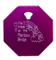 Rainbow Bridge Octagon Pet Tag - Aluminum Large