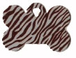 Zebra Stripe Bone Pet Tag - Aluminum Large