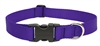 "LupinePet Basic Solids 1"" Purple 16-28"" Adjustable Collar for Medium and Larger Dogs"