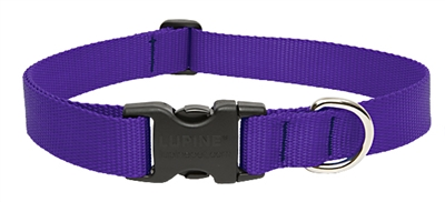 "Lupine Basic Solids 1"" Purple 16-28"" Adjustable Collar for Medium and Larger Dogs"
