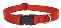 "Lupine 1"" Red 12-20"" Adjustable Collar"