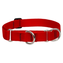 "Lupine 1"" Red 19-27"" Martingale Training Collar"