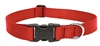 "LupinePet Basic Solids 1"" Red 25-31"" Adjustable Collar for Medium and Larger Dogs"
