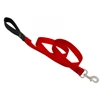 "Lupine 1"" Red 4' Padded Handle Leash"