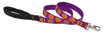 Retired Lupine Flower Box 4' Long Padded Handle Leash - Large Dog
