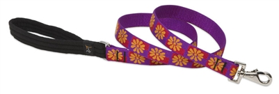 "Retired Lupine 1"" Flower Box 4' Long Padded Handle Leash"