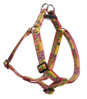 "Retired Lupine Flower Patch 19-28"" Step-in Harness - Large Dog"