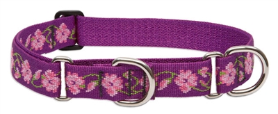 "Lupine 1"" Rose Garden 15-22"" Martingale Training Collar"