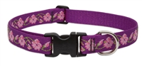"Lupine Originals 1"" Rose Garden 16-28"" Adjustable Collar for Medium and Larger Dogs"