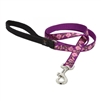 "Lupine 3/4"" Rose Garden 4' Padded Handle Leash"