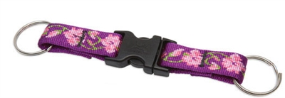 Lupine Rose Garden Buckle Key Chain - 3/4""