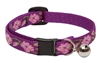 "Lupine 1/2"" Rose Garden Cat Safety Collar with Bell"