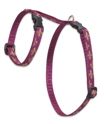 "Retired Lupine 1/2"" Royal Gold 9-14"" H-Style Cat Harness"