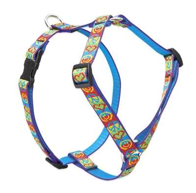 "Retired LupinePet Peace Pup 14-24"" Roman Harness - Medium Dog"