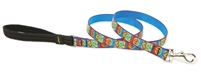 "Retired Lupine 3/4"" Peace Pup 4' Padded Handle Leash"