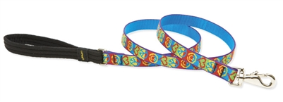 Retired Lupine Peace Pup 4' Padded Handle Leash - Medium Dog