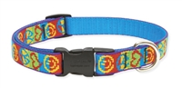 "Retired LupinePet Peace Pup 9-14"" Adjustable Collar - Medium Dog"