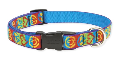 "Retired Lupine Peace Pup 9-14"" Adjustable Collar - Medium Dog"