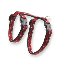 "Retired Lupine 1/2"" Retro Red 12-20"" H-Style Cat Harness"