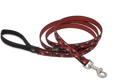"Retired Lupine 1/2"" Retro Red 4' Padded Handle Leash"
