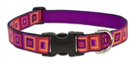 "Retired Lupine  Ruby Cube 12-20"" Adjustable Collar - Large Dog"