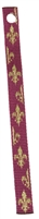 "Retired Lupine 1/2"" Royal Gold Bookmark - Includes Matching Tassel"