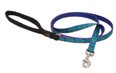 "Lupine 1/2"" Rain Song 4' Padded Handle Leash"