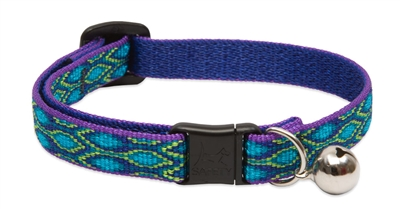 "Lupine 1/2"" Rain Song Cat Safety Collar with Bell"