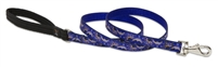 "Retired Lupine 3/4"" Starry Night 4' Padded Handle Leash"