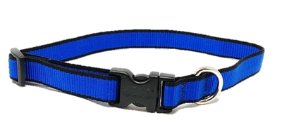 "Retired LupinePet TLS Blue (Trimline Solid) 13-22"" Adjustable Collar - Medium Dog"
