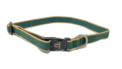 "Retired Lupine 3/4"" Trimline Solid Hunter 12-20"" Adjustable Collar"