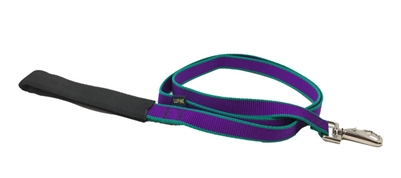 Retired Lupine Trimline Solid Purple 4' Padded Handle Leash - Medium Dog