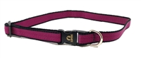 "Retired Lupine 3/4"" Trimline Solid Plum 15-25"" Adjustable Collar"