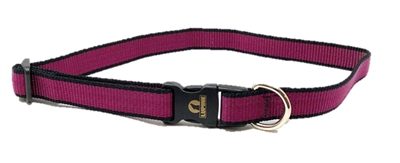 "Retired Lupine TLS Plum (Trimline Solid) 15-25"" Adjustable Collar - Medium Dog"