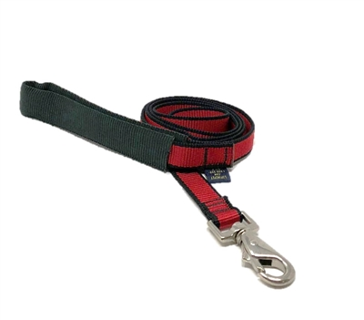 Retired LupinePet TLS Red (Trimline Solid) 4' Padded Handle Leash - Medium Dog
