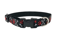 "Lupine 1"" Sample Bling Bonz with Red Paws 16-28"" Adjustable Collar - Large Dog MicroBatch"