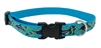 "LupinePet 3/4"" Sample Bright Royal Blue Dolphin with Yellow Outline 9-14"" Adjustable Collar - Medium Dog"