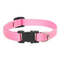 "Lupine Solid 1/2"" Pink 10-16"" Adjustable Collar"