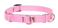 "Lupine 3/4"" Pink 14-20"" Martingale Training Collar"