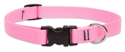 "Lupine Solid 3/4"" Pink 15-25"" Adjustable Collar"