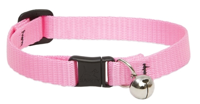 "Lupine 1/2"" Pink Cat Safety Collar with Bell"